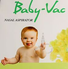 Baby-Vac Infants-Children nasal aspirator Medically recommended Works Clean-Fast