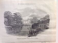 SALISBURY Wilton House Seat of the Earl of Pembroke - Antique Print 1871