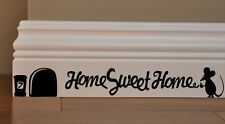 MOUSE GRAFFITI WRITER funny wall decal HOME SWEET HOME vinyl stickers