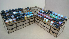 Paint Stand 2 Racks+Draws Pot Storage Workshop Warhammer Wargames citadel paints