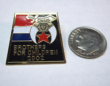 2002 Oasis Shriners Charlotte NC Brothers for Children Pin