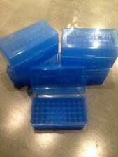 (5)  Berrys Plastic Ammo Rifle Boxes Case 223 .222 .223 5.56 BLUE 50 rnd MPN 405