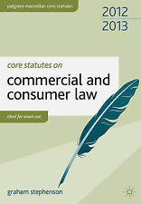 Core Statutes on Commercial and Consumer Law by Stephenson, Graham ( Author ) ON
