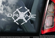 DRONE - Car Window Sticker - Drones Sign Art DJI Inspire Phantom Silhouette - V2