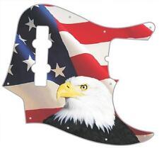 J Jazz Bass Pickguard Custom Fender Graphic Guitar Pick Guard US Patriot Eagle 1