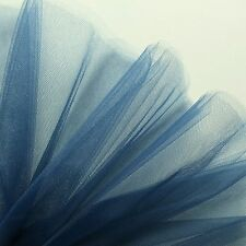 Navy Blue Fine Tulle fabric 300cm wide - by the M - Bridal Prom - Gathering net