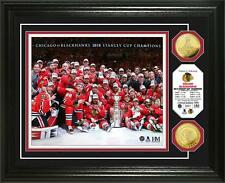 Chicago Blackhawks 2015 Stanley Cup Team Photo on Ice with Coin-Limited Edition
