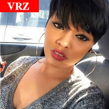 Human Hair Wigs Pixie Cut Short Brazilian Wig Average Cap Size Natural Color