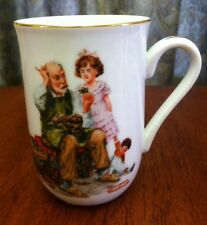 1982 Norman Rockwell Museum Collectible Mug Cup The Cobbler Mint