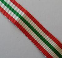 """Italy Star Miniature Size Medal Ribbon, Army, Military, WW1,WW2, Mini, 10"""", 25cm"""