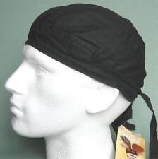 Black Bandana Zandanna Do Du Rag Durag Skullcap Hat fitted plain