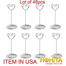 48pcs Place Name Card Holder Heart Clip Wedding Centerpieces Table Decorations