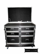 Dual WorkBox 6-Drawer W/Table (Customizable) Heavy Duty Road Case Made In USA