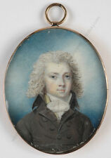 "Richard Cosway-Circle ""Portrait of a young aristocrat"", fine miniature, ca.1780"