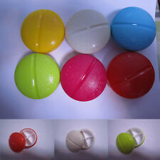 Portable Plastic Pill Dispenser Small Travel Pillbox Drug Medicine Tablet Storag
