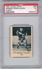 1952 Laval Dairy Subset Hockey Card Montreal Royals G. Desaulniers Graded PSA 5