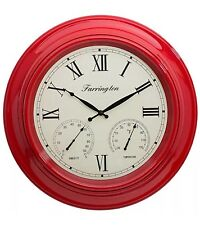 18 INCH EXTRA LARGE GIANT SIZE ROUND RED FRAME HOTEL SCHOOL OFFICE WALL CLOCK