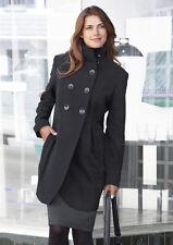 """""""VIVANCE"""" Woll Mantel schön geschnitten in schwarz Gr. 34 Neu fast 50% reduziert"""