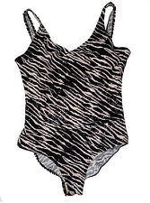 Shore Shapes, Zebra Print One-Peice Swimsuit with Sequins, size 22W