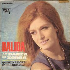 """RARE DALIDA """"LA DANZA DI ZORBA"""" 60'S SP ITALIEN BARCLAY 45 BN 6081"""
