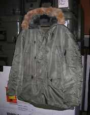 GENUINE RARE USAF EARLY VIETNAM  N-3B  JACKET, FLYING , MAN'S NYLON  LARGE