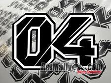 ANDREA DOVIZIOSO DUCATI MOTOGP 04 RACE NUMBERS 200x133mm STICKERS - GRAPHICS x1