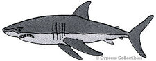 JAWS PATCH iron-on GREAT WHITE SHARK embroidered MAN-EATING FISH applique scuba