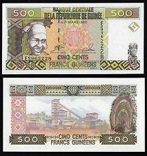 Banknote of GUINEA 1998 BANCONOTA 500 FRANCS COLORATA FIOR DI STAMPA UNC