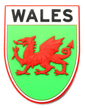 Welsh Gifts - Wales with Red Dragon Shield PU Fridge Magnet