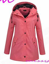 WATERPROOF COAT Festival Rain Mac Ladies coat Womens Jacket Size 8 10 12 14 16 C