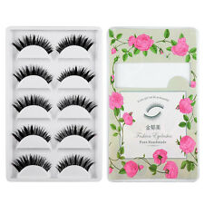 5 Paar Frauen Handmade Thick Long False Eyelashes Künstliche Wimpern Beauty Tips