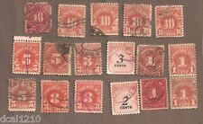 USA USED POSTAGE DUE STAMPS 1 3 5 10