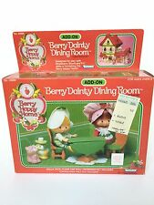 Vintage Strawberry Shortcake Happy Home Add-On Berry Dainty Dining Room In Box!