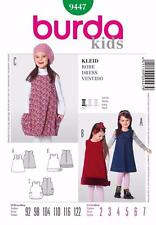 BURDA KIDS SEWING PATTERN Three chic sleeveless dresses SIZES 4 - 10 9447