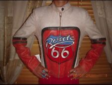 NEW Route 66 Bike/Racing/Motorcycle  Leather Jacket S Unisex