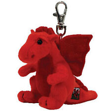 TY Beanie Baby - Y DDRAIG GOCH the Dragon ( Metal Key Clip - UK Exclusive ) MWMT
