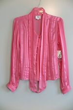 NWT Milly of New York Watermelon Cami & Blouse Set Size 4 MSRP $255