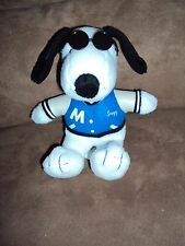 Snoopy Varsity Blue Jacket Sunglasses Metlife Fleece Peanuts Dog stuffed plush