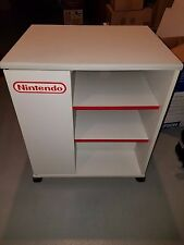 Original Nintendo NES Wood TV Stand Storage Cart Display Cabinet Rare on Wheels