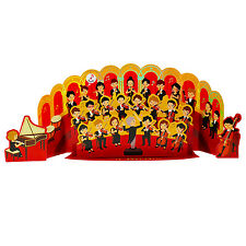 Happy Birthday Classical Orchestra Sound W/ 2 Melodies Pop Up Greeting Card