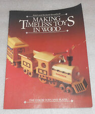 Making Timeless Toys in Wood by Janet & Richard Strombeck (1986, PB) Strom Plans