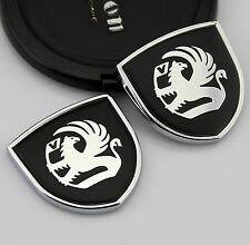 2pcs Quality Car body  Emblems Sticker Decal Badge fit for Black Shield gift NEW