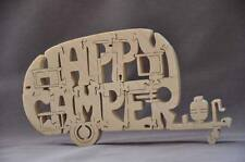 NEW Vintage Happy Camper Canned Ham Camping Trailer Wooden Puzzle Toy