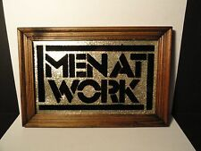 1980's Carnival Prize/Picture - Men At Work - Wood Frame/Glass