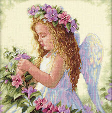 Cross Stitch Kit ~ Dimensions Passion Flower Angel Little Girl #35229