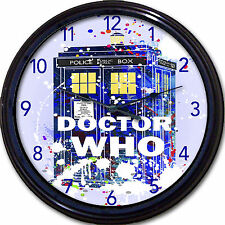 Doctor Who Whovian Tardis Wall Clock Police Time Travel London UK Britain 10""
