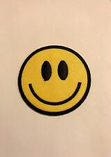 Smiley Face Peace & Love Happy Icon Embroidered Iron On Applique Patch