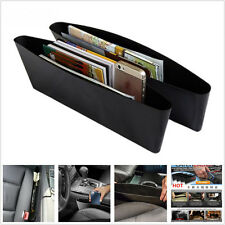 2 Pcs Black Catch Catcher Storage Organizer Box Caddy Car Seat Slit Pocket Hot