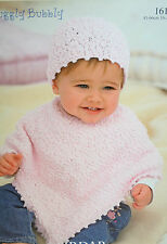 Baby's Poncho and Hat Knitting Pattern