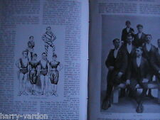 Sark Jethou Herm Island Acrobat Family Marvellous Craggs Old Photo Articles 1898